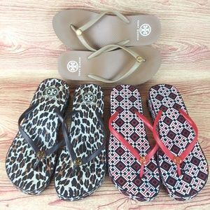 Tory Burch Wedge Bundle Thong Flip Flop 3 Lot   9